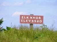 Photo of Elk Knob Sign