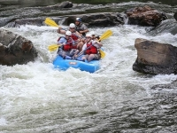 Photo of raft group in rapids